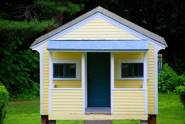 žlutý domek, zahrada