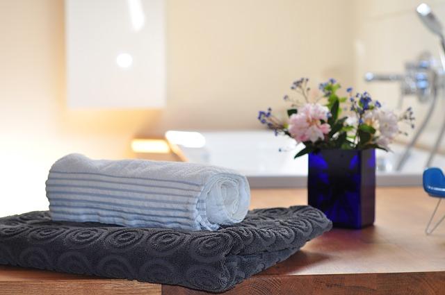 ručníky a květiny