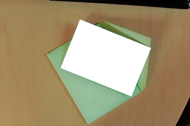prázdný papír na dopis